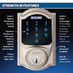 New Schlage touch screen deadbolt